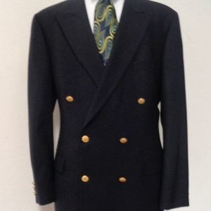 BROOK BROTHERS DOUBLE BREASTED NAVY BLUE JACKET44L